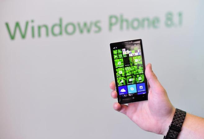 Un terminal de Nokia con el sistema operativo Windows Phone.