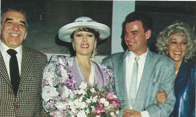 Gabriel García Márquez ( izqda), Massiel, Pablo Lizcano y la actriz...