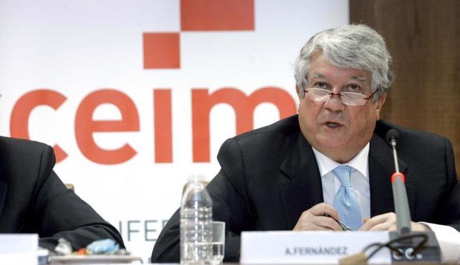 Arturo Fernández, presidente de la patronal madrileña ha sido...