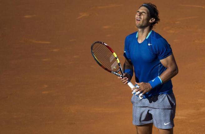El tenista español Rafa Nadal, durante el encuentro de cuartos de...