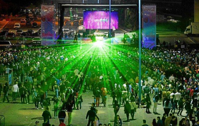 Uno de los conciertos del Spring Festival celebrado en el recinto...