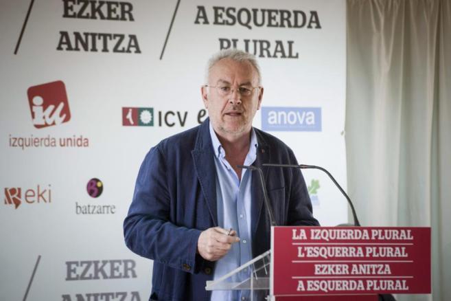 Cayo Lara, durante el acto celebrado este sábado en Madrid.