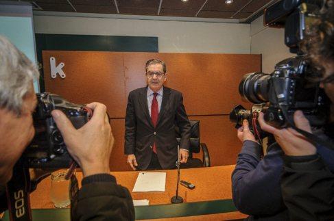 El presidente de Kutxabank, Mario Fernández, en una presentación de...