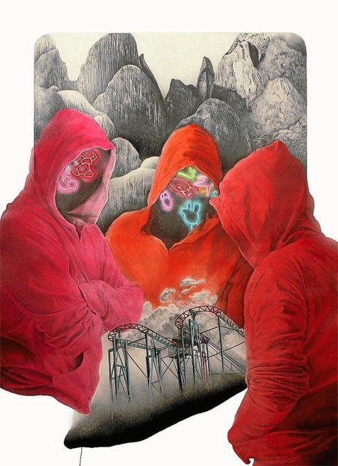 'Act of faith' (2014), grafito y acuarela líquida sobre...