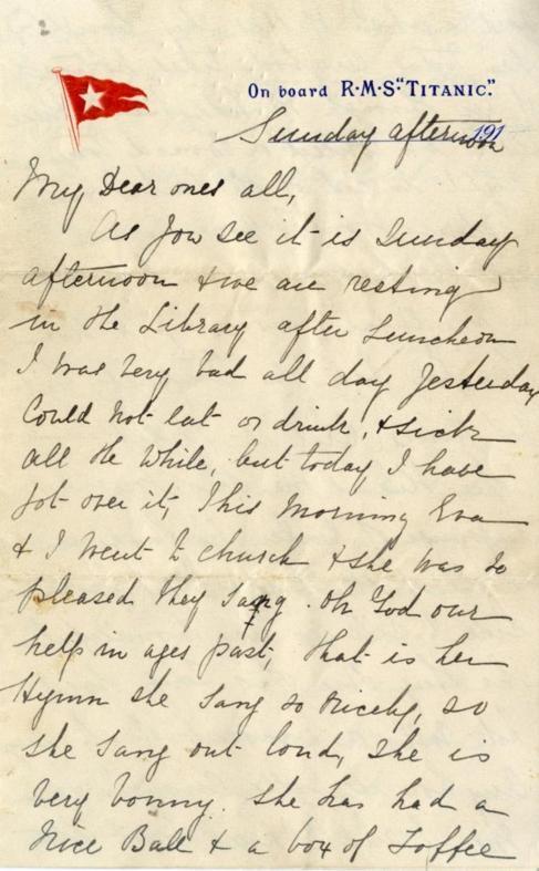 La carta escrita por Esther Hart.