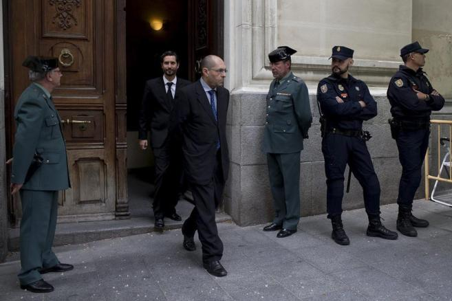 El juez Silva sale del Tribunal Superior de Justicia de Madrid.