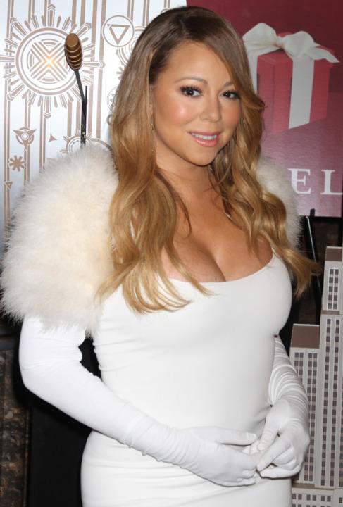 Mariah Carey en el Empire State Building el pasado febrero.