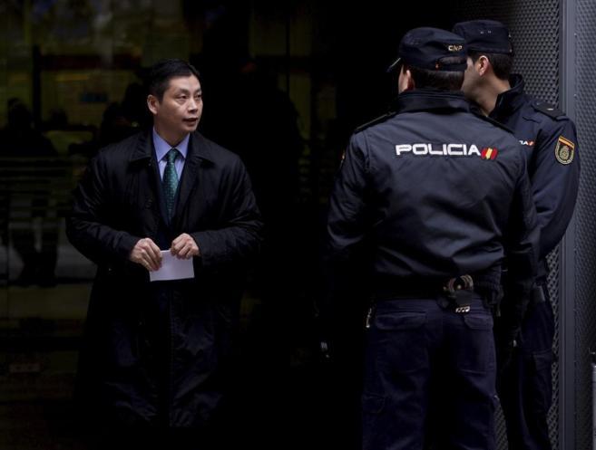 Gao Ping, presunto líder de la mafia china, a su salida de la...