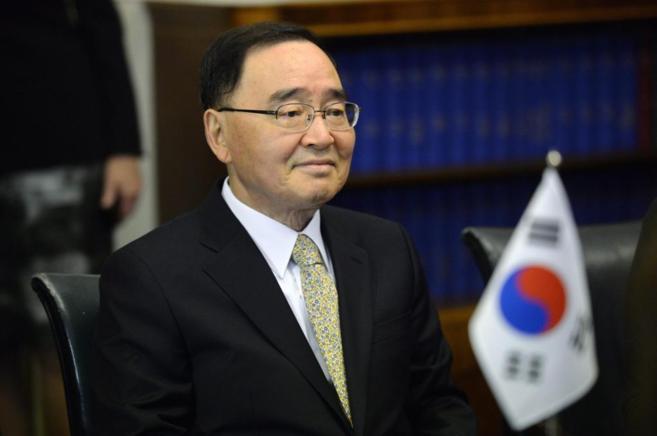 El primer ministro surcoreano Chung Hong-won.