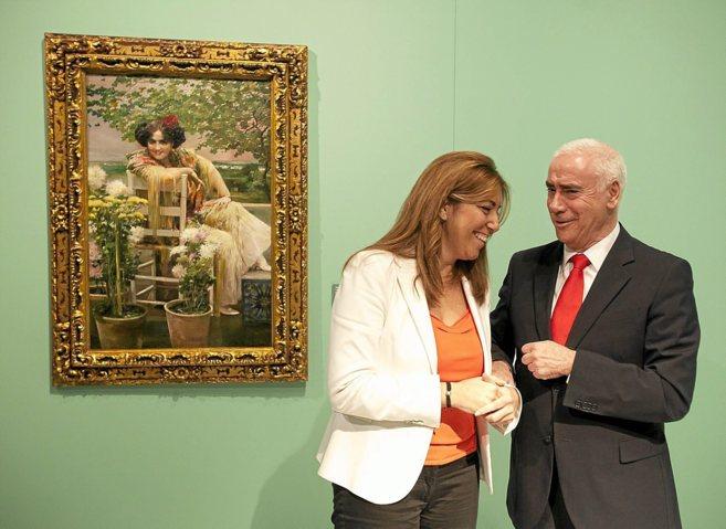 Susana Díaz, con el consejero de Educación, Luciano Alonso,...