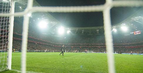 El nuevo campo de San Mamés, durante un partido.