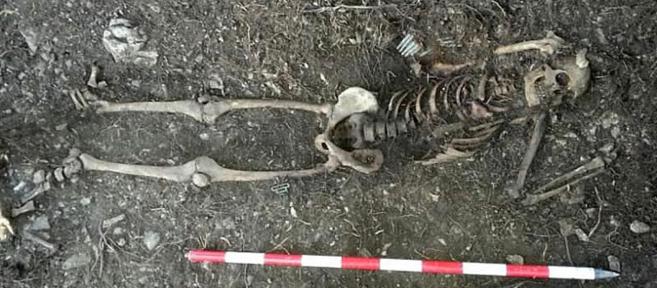Imagen del 'soldado desconocido' exhumado el pasado otoño...