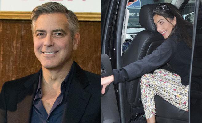 El actor George Clooney y la abogada Amal Alamuddin.