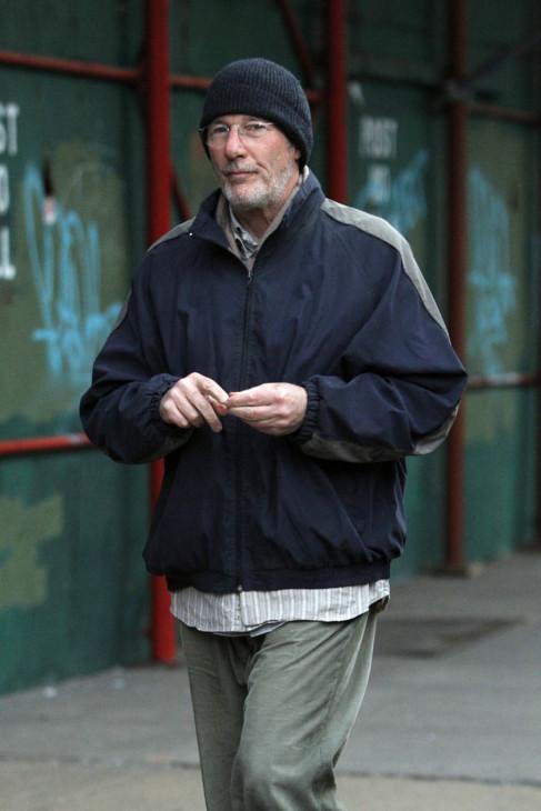 Richard Gere, durante el rodaje de 'Time out of mind'.