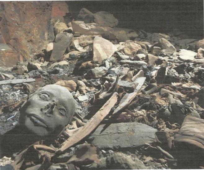 Restos encontrados en el Valle de los Reyes de Luxor