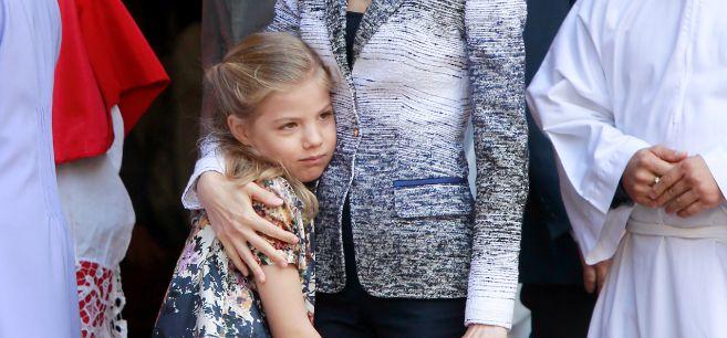 La infanta Sofía, hace unos días en la misa de resurrección de...