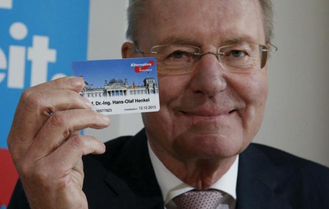 Hans-Olaf Henkel, candidato a las europeas de Alternativa por...