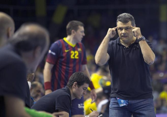 Xavi Pascual, entrenador del Barcelona.