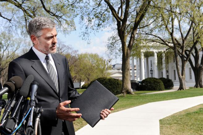 Clooney, tras una reunión con Obama en la Casa Blanca para hablar de...