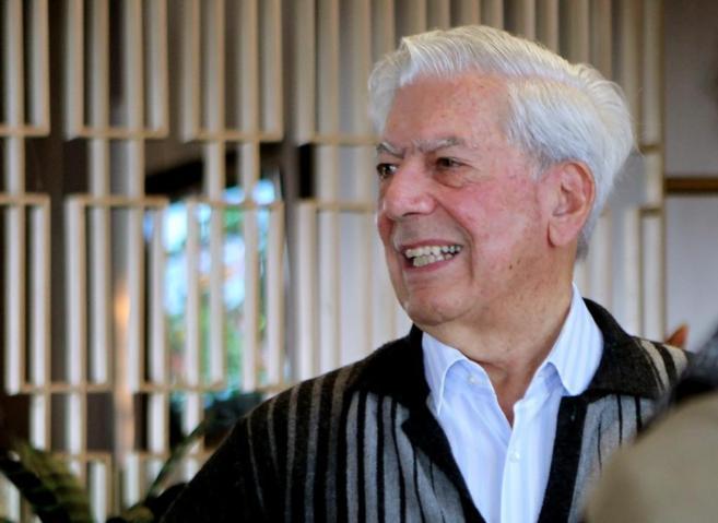 Mario Vargas Llosa, en Bogotá.