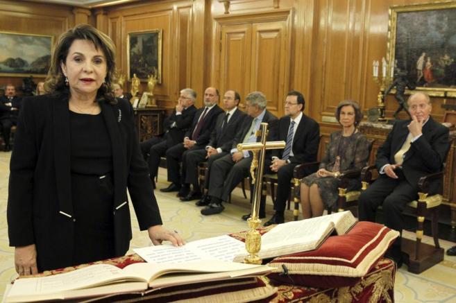 Pilar Sepúveda, al prometer su cargo como vocal del CGPJ en 2013.