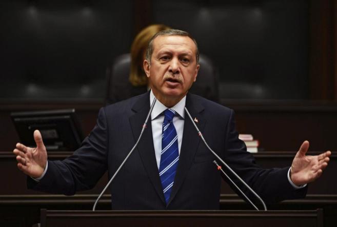 El primer ministro Erdogan, durante una comparecencia parlamentaria.