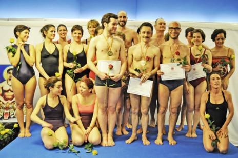 Todos los participantes en el Campeonato de Yoga Español 2014.