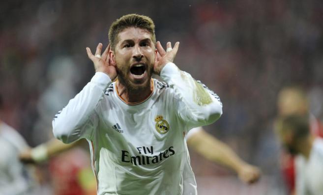 Sergio Ramos celebra uno de los goles en Múnich.