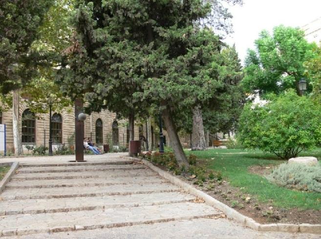 Imagen del patio de la Misericòrdia, en Palma.