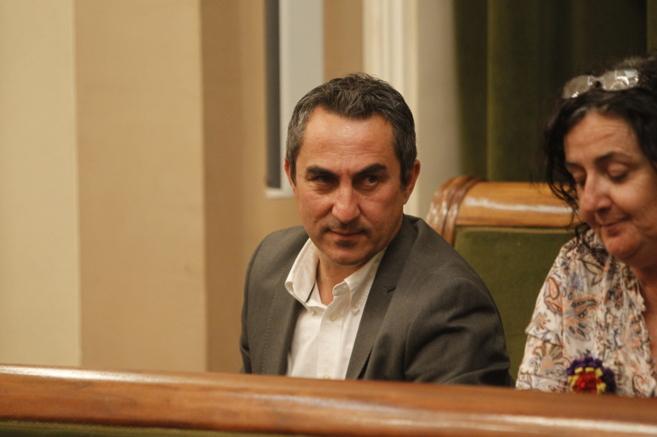 Juan María Calles en el primer pleno como concejal No Adscrito.