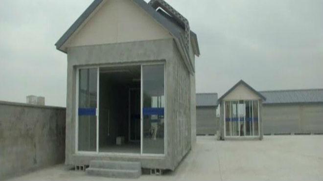 Imagen de una de las diez viviendas creadas por la empresa Winsun en...