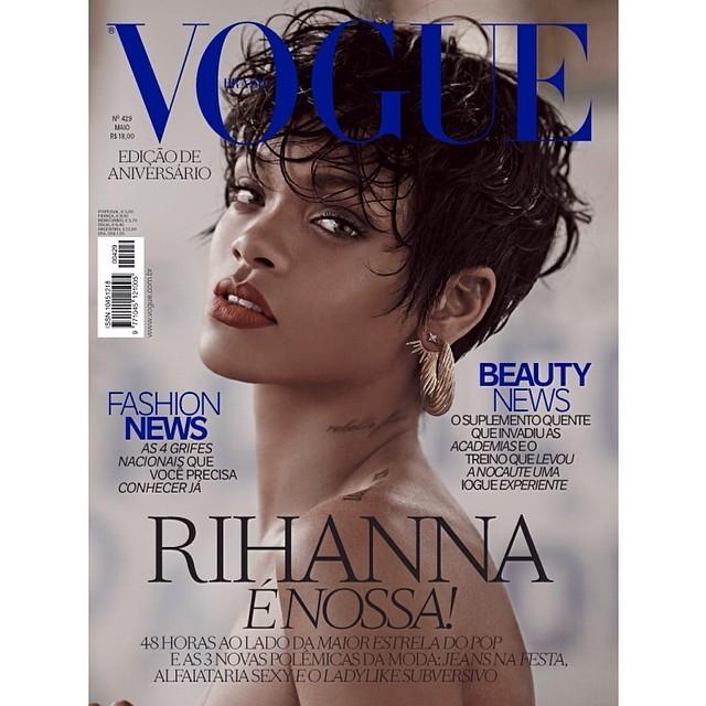 También en la portada del número de mayo de Vogue Brasil ha posado...