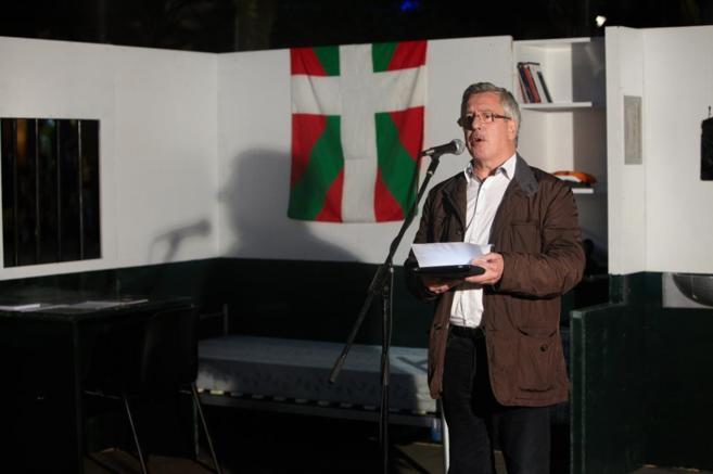 Gorka Landáburu , durante un acto en San Sebastián.