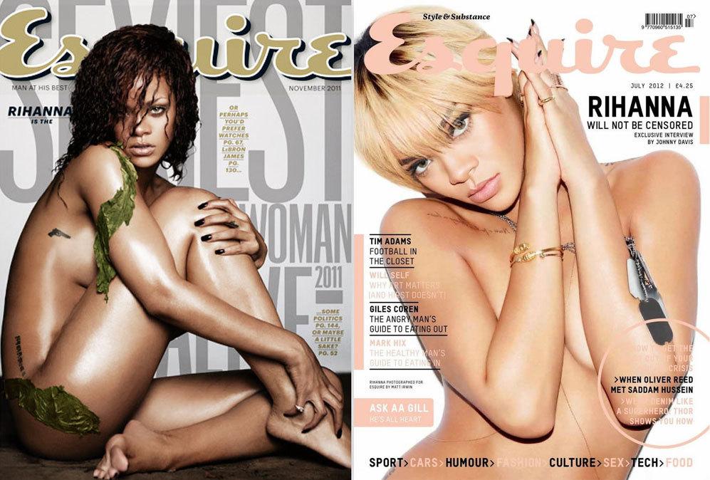 Dos portadas de la cantante en la revista Esquire, que la coronó en...