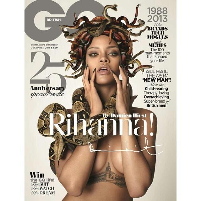 Otra portada subida de tono (como una moderna Medusa) que la cantante...
