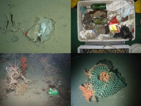 De arriba a abajo y de izquierda a derecha: bolsa de plástico...