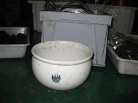 Sanitarios de cerámica hallados en el fondo del mar