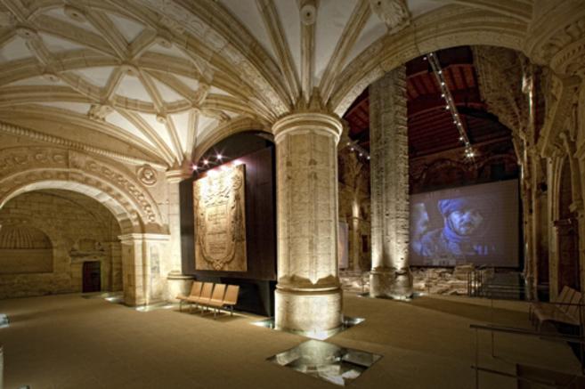 Interior de la Iglesia Mayor Abacial de la localidad jienense de...