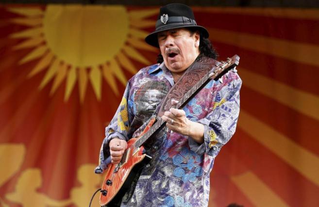 Santana, durante un concierto en el reciente Festival de Jazz de Nueva...