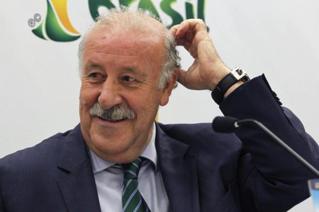 El seleccionador, Vicente Del Bosque, en un acto sobre el Mundial.