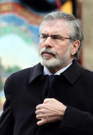 El líder del Sinn Féin, Gerry Adams