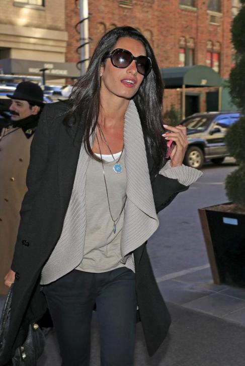 La abogada Amal Alamuddin, novia de George Clooney.