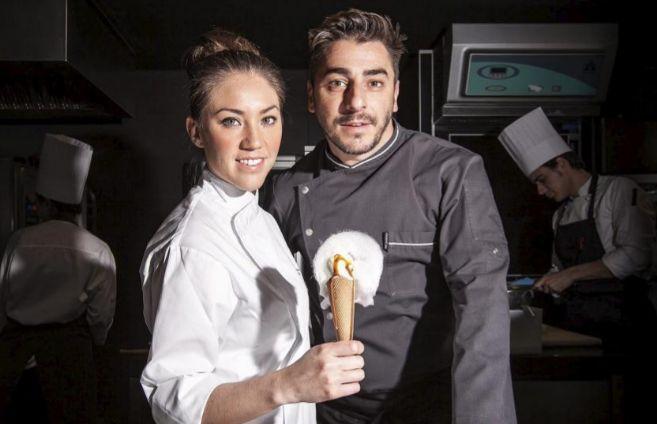 Alejandra Rivas y Jordi Roca, marido y mujer, en El Celler de Can Roca...