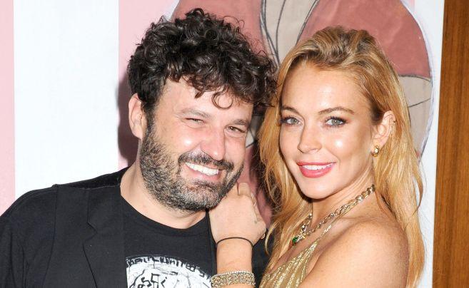 Domingo Zapata y Lindsay Lohan, el pasado mes de diciembre en Miami.