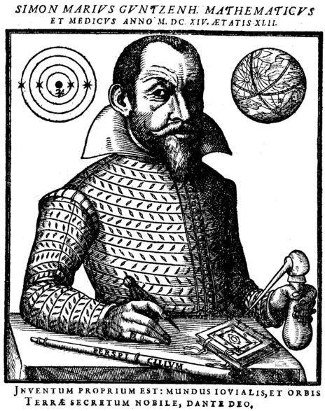 Retrato de Simon Marius.