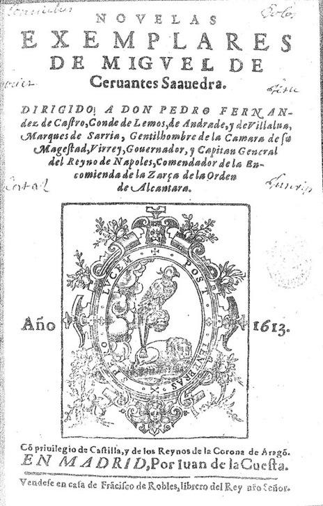 Facsímil de la primera edición de las 'Novelas Ejemplares'.
