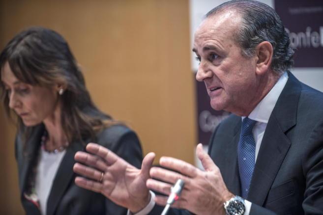 El presidente del la patronal vasca, Confebask, Miguel Ángel Lujua.
