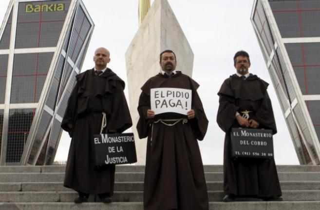 Los monjes del Monasterio del Cobro que, a partir de mañana,...
