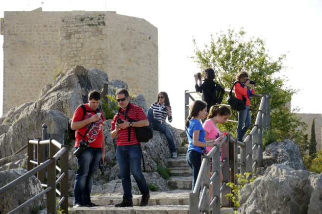 Visitantes durante su recorrido por Santa Catalina