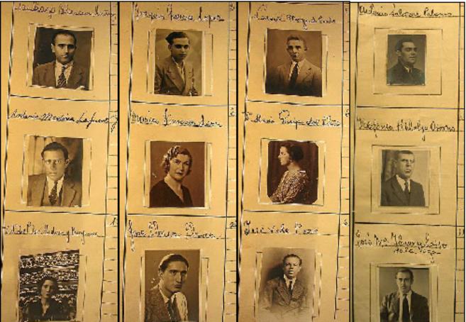 Conductores de Sevilla entre 1934 y 1939, en los álbumes de Tráfico.